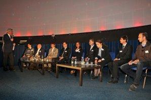 Panelová diskuze o budoucnosti české astronomie při oslavách 100 let IAU Autor: Pavel Hrdlička - licence Creative Commons BY-SA 4.0