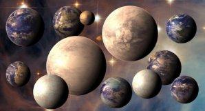 Předpokládaný rozmanitý svět exoplanet, z nichž některé mohou být obyvatelné Autor: PHL@UPR Arecibo, phl.upr.edu/NASA/ESA/Hubble