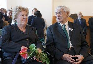 Josef Zahrádka s manželkou, svou celoživotní oporou Autor: Pavel Šubrt