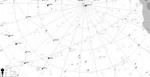 Vyhledávací mapka pro kometu C/2017 T2 Autor: Martin Mašek, Guide9