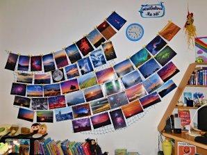 Galerie vítězných snímků soutěže Nebeské kouzlení v mokerské knihovně Na síti. Autor: Dagmar Honsnejmanová.