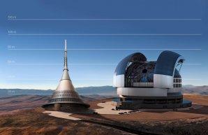 Porovnání velikosti ELT a vysílače na Ještědu Autor: ESO