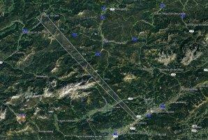 Mapa vypočtené pádové oblasti meteoritů bolidu 19. listopadu 2020 Autor: Astronomický ústav AV ČR