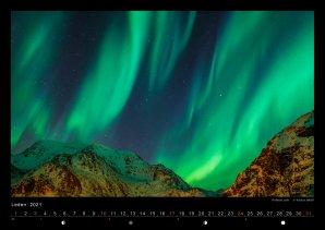 Polární záře v kalendáři ASTROFOTO 2021 Autor: Václav Uhlíř