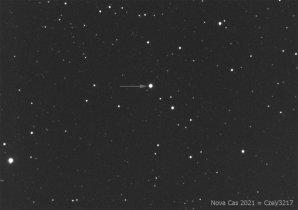 Nova Cas 2021 na snímku z robotického dalekohledu FRAM na La Palmě Autor: FZU, Martin Mašek