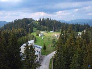 Areál observatoře Rozhen z ochozu dvoumetrového dalekohledu Autor: Zdeněk Bardon