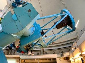 Dánský 1,54 m dalekohled. ESO, La Silla, Chile Autor: Zdeněk Bardon
