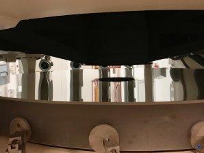 Detailní snímek odrazné plochy zrcadla dalekohledu NTT. ESO, La Silla, Chile Autor: Zdeněk Bardon