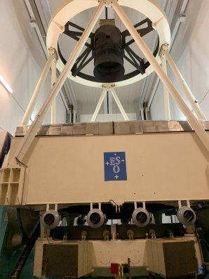 Celkový pohled na dalekohled NTT. ESO, La Silla, Chile Autor: Zdeněk Bardon