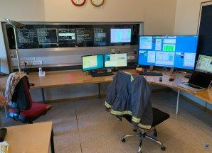 Řídící místnost dalekohledu Swiss 1,2 m. ESO, La Silla, Chile Autor: Zdeněk Bardon