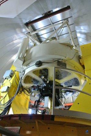 Celkový pohled na dalekohled VATT. Mt. Graham, Arizona, USA Autor: Zdeněk Bardon