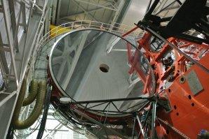 Jedno ze dvou primárních zrcadel o průměru 8,4 metru dalekohledu LBT. Mt.Graham, Arizona, USA Autor: Zdeněk Bardon