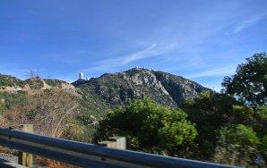 Pohled na observatoř Kitt Peak z příjezdové cesty. Arizona, USA Autor: Zdeněk Bardon