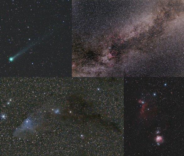 Snímky nasnímané digitální zrcadlovkou na paralaktické montáži Autor: Klub astronomů Liberecka