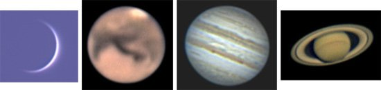 Snímky Venuše, Marsu, Jupiteru a Saturnu Autor: Klub astronomů Liberecka