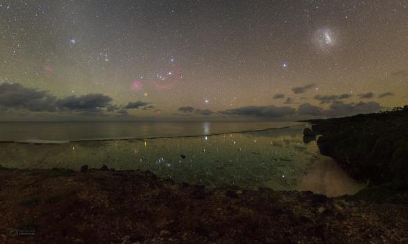 Mozaika hvězd nad Cookovým ostrovem Mangaia vytvořená z 11 snímků Autor: Petr Horálek