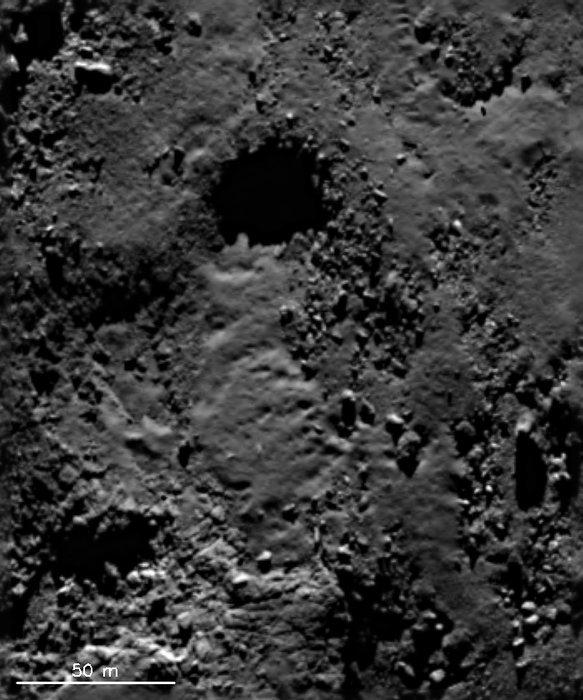 Tekuté písky na povrchu jádra 67P Churyumov-Gerasimenko Autor: ESA