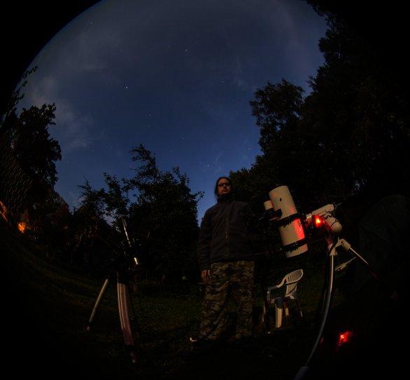 Martin Mašek se svými dalekohledy Autor: Martin Mašek