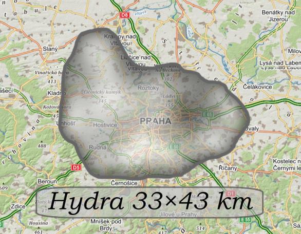 Hydra vizualizace velikosti. Autor: Martin Gembec