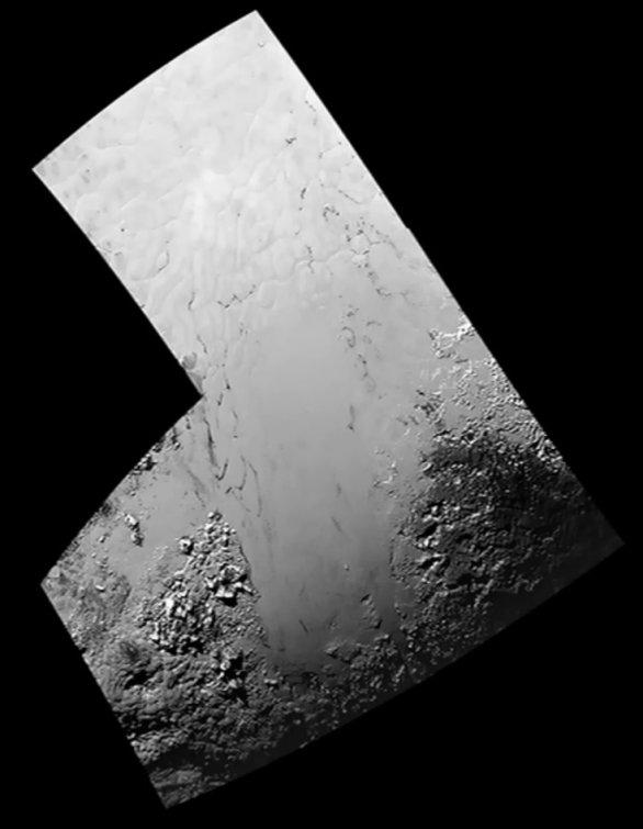 Detail Tombaugh Regio, mozaika Autor: NASA/JHUAPL/SWRI