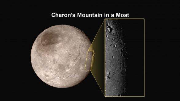Charon - pozoruhodná hora v proláklině Autor: NASA/JHUAPL/SWRI