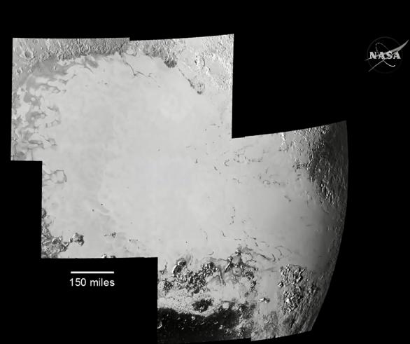 Další detail oblasti Sputnik Planum (Tombaugh Regio) na Plutu Autor: NASA TV