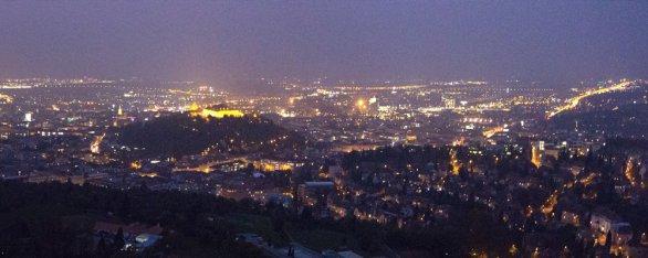 Výhled do nočního Brna. Autor: Hvězdárna a planetárium Brno