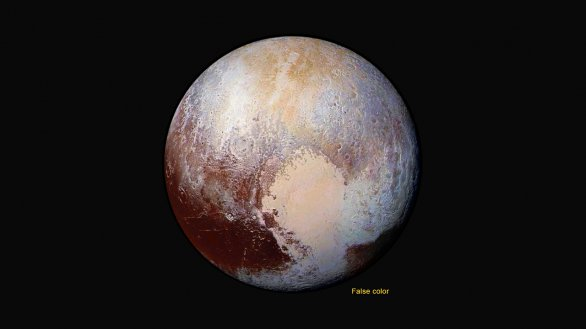 Pluto v nepravých barvách Autor: NASA/JHUAPL/SWRI