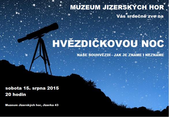 Hvězdičková noc na Jizerce 15. srpna 2015. Autor: Muzeum Jizerských hor.