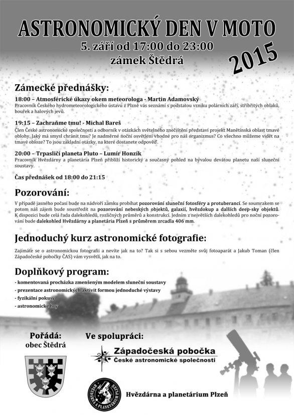 Pozvánka na Astronomický den v MOTO Autor: Západočeská pobočka České astronomické společnosti
