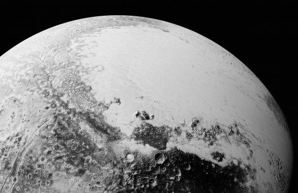 Krásná mozaika Pluta ze vzdálenosti 80 000 km Autor: NASA/JHUAPL/SWRI