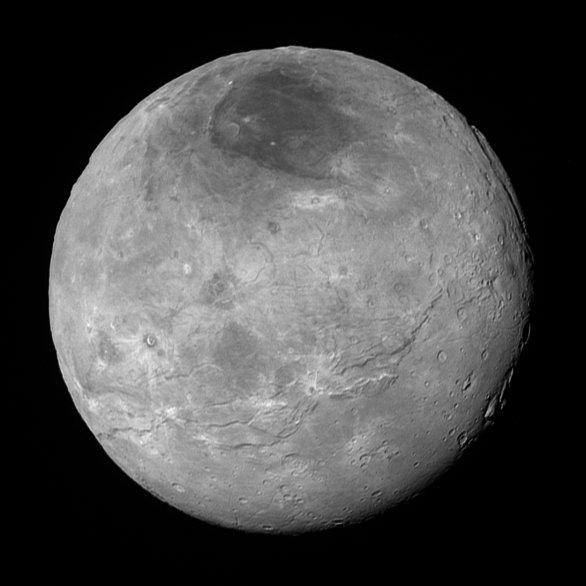 Charon - snímek bez komprese ze 470 000 km Autor: NASA/JHUAPL/SWRI