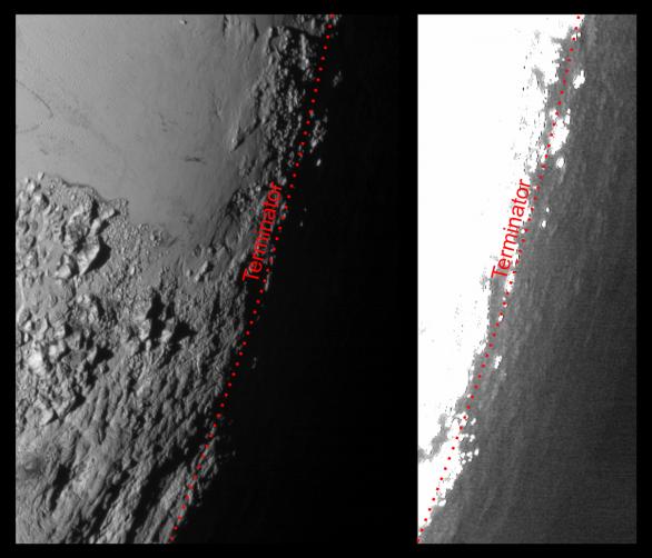 Svítání na Plutu Autor: NASA/JHUAPL/SWRI