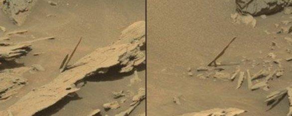 Sol 1087 kamenné jehlice Autor: NASA/JPL-Caltech/MSSS