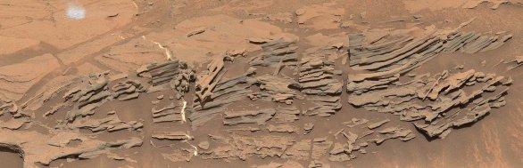 Sol 1090 bizarní útvary Autor: NASA/JPL-Caltech/MSSS