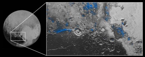 Výskyt ledu na povrchu Pluta Autor: NASA/JHUAPL/SWRI