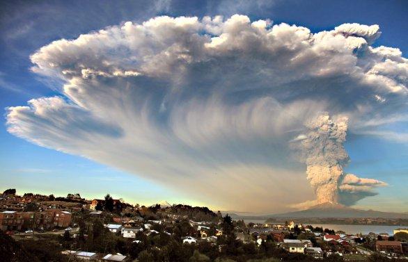 Exploze sopky Cabulco v dubnu 2015. Autor: Getty Images.