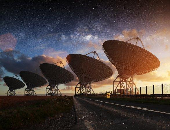 Antény SETI v Novém Mexiku. Autor: Jean Marc.