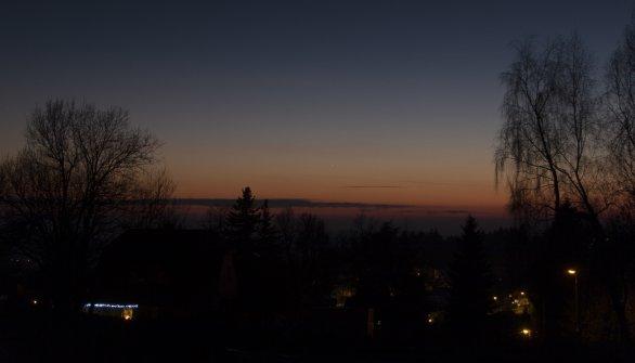 Merkur na jihozápadě 29. 12. 2015. Ohnisko 38 mm, Canon 30D Autor: Martin Gembec