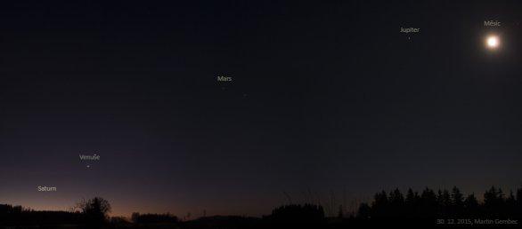 Planety na ranní obloze 30. prosince 2015 Autor: Martin Gembec