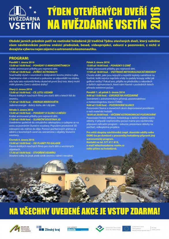 Týden otevřených dveří pro širokou veřejnost na Hvězdárně Vsetín. Autor: Hvězdárna Vsetín.