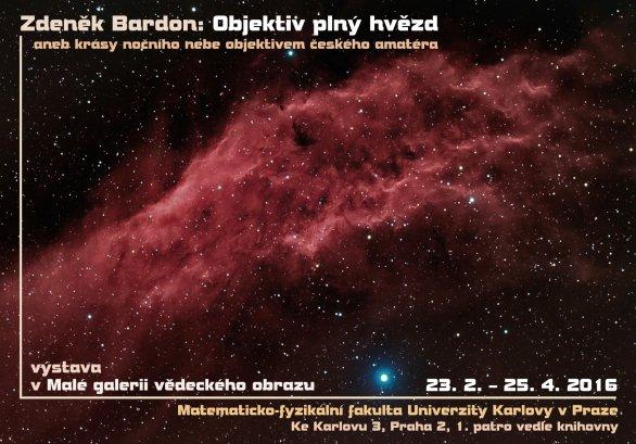 Výstava Zdeňka Bardona s názvem Objektiv plný hvězd. Autor: Zdeněk Bardon.