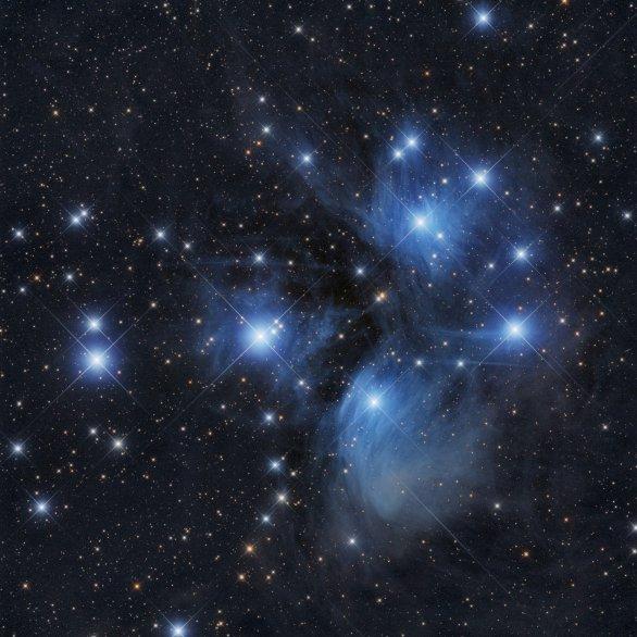 Hvězdokupa M45 Plejády v souhvězdí Býka Autor: Pavel Cagaš a Martin Myslivec