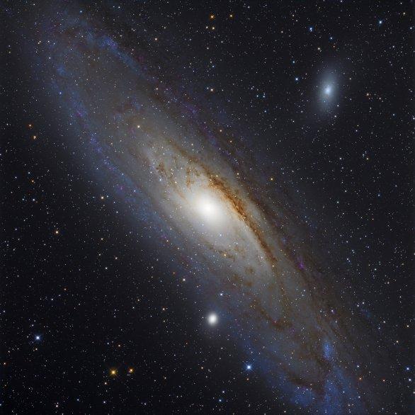 Galaxie M31 v Andromedě Autor: Pavel Cagaš a Martin Myslivec
