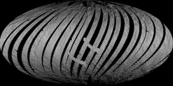 Pokrytí povrchu z nízké mapovací orbity (LAMO) Autor: NASA/JPL-Caltech/UCLA/MPS/DLR/IDA/PSI/LPI