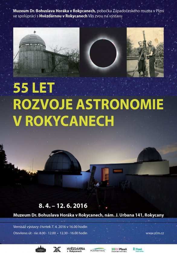 Výstava: 55 let rozvoje rokycanské hvězdárny. Autor: Hvězdárna v Rokycanech