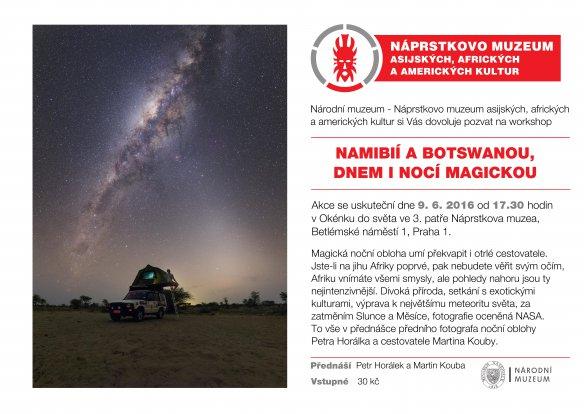 Přednáška: Namibií a Botswanou, dnem i nocí magickou. Autor: Náprstkovo muzeum.