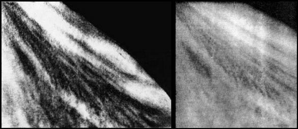 Příklad snímků orbitálními moduly Veněry 9 a 10 Autor: Don P. Mitchell