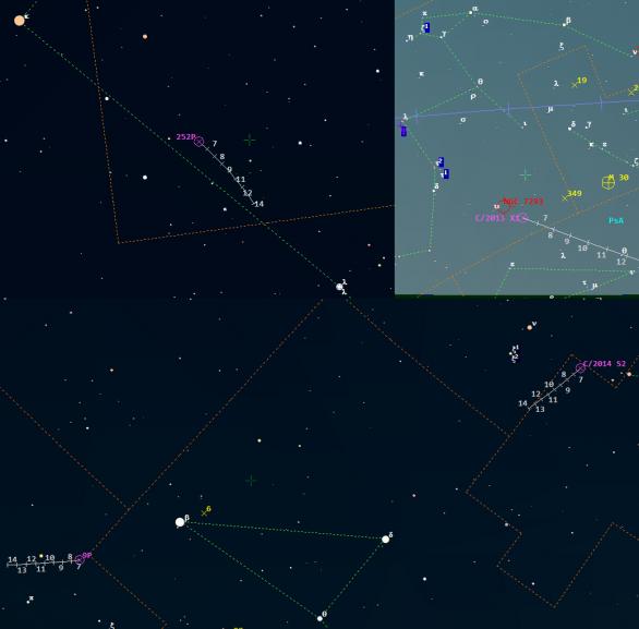 Komety ve 23. týdnu 2016. Data: Guide 9