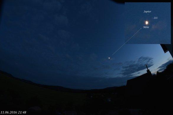 ISS,Měsíc a Jupiter Autor: Jiří Šíp